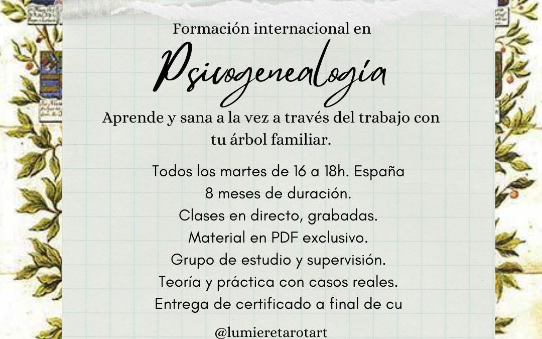 Formación Internacional: Psicogenealogía 2021/2022